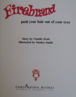 Firebrand Childrens Vtg Picture Book Red Hair by Scott