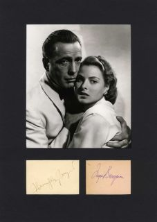 Humphrey Bogart Ingrid Bergman Autographs Signed AP