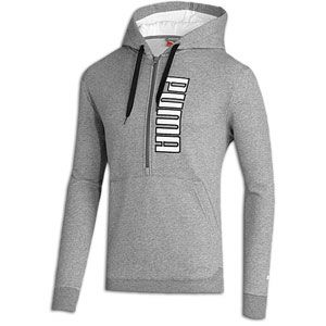 PUMA 1/2 Zip Hoodie   Mens   Casual   Clothing   Medium Grey/White
