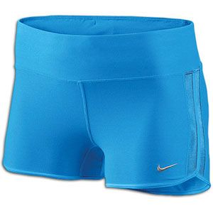 Nike 2 Boy Short   Womens   Running   Clothing   Blue Glow/Matte