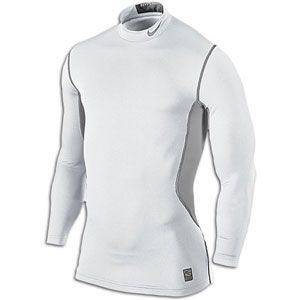 Nike Pro Combat Hyperwarm Dri FIT Max Ftd Mock   Mens   White/Matte