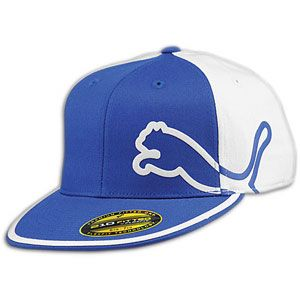 PUMA Monoline 210 Fitted Cap   Mens   Casual   Clothing   Royal/White