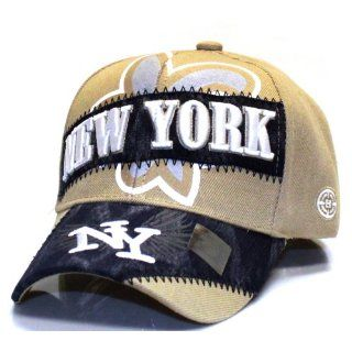City Hunter V170 City Dyed Patch Cap New York  Khaki