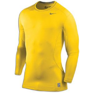 Nike Pro Combat Core Fitted 2.0 L/S   Mens   Varsity Maize/Cool Grey