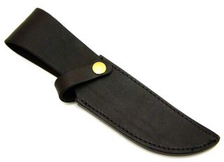 Brown Leather Fixed Blade Bowie Hunting Knife Belt sheath for 6 blade