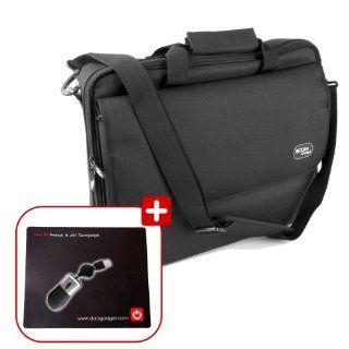 DURAGADGET Water Resistant Black Laptop Briefcase With