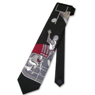 100% SILK NeckTie Football Design Mens Neck Tie #124 3 Clothing