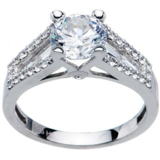 Sterling Silver Round Cubic Zirconia Ring  1.94 ct tw Jewelry