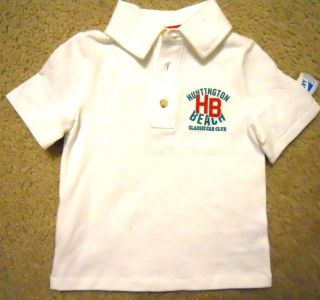 Huntington Beach Car Club Baby Boys Old Navy Polo Shirt Sz 2T White