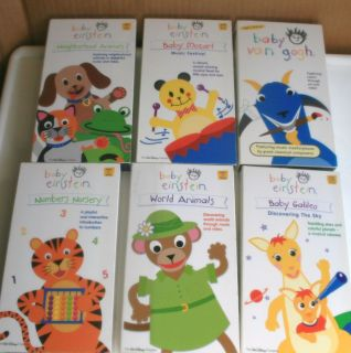 Childrens Videos 6 Baby Einstein VHS