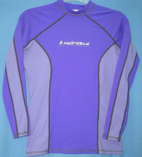nylon spandex hydrosilk model rash guard shirt ladies size small