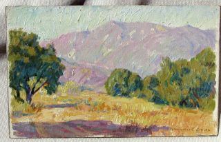 BENJAMIN CHAMBERS BROWN LISTED CALIFORNIA ORIGINAL OIL SIERRA MADRE