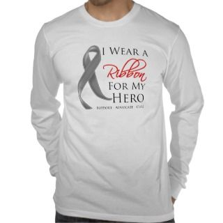 Brain Cancer I Wear a Ribbon For My Hero T Shirts