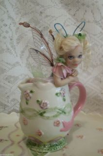 Fairies 6 PC Tea Set Art Doll Sculpture Polymer Christel Hutson