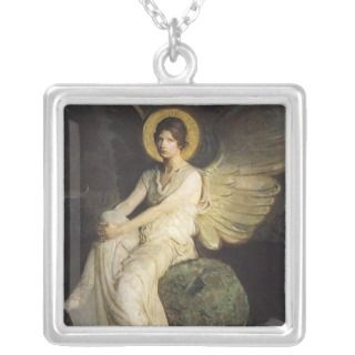 Winged Figure Seated Upon a Rock by Abbott Thayer Jewelry