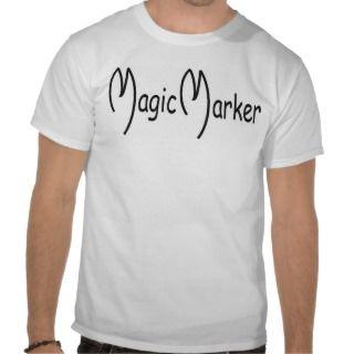 Magic Marker Black & White Sun Tee Shirts
