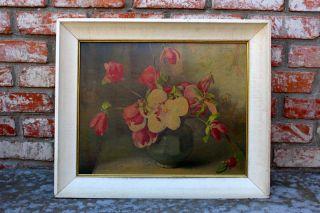 1947 Artist Florence Julia Bach Large Antique Floral Print