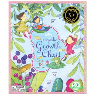 eeBoo Lily Pad Pond Growth Chart Childrens Room Decor