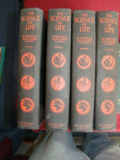 Volume Set The Science of Life 1931 H G Wells Huxley