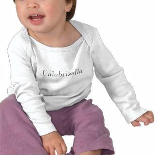 Calabrisella Bambini Italiani Logo Long Sleeve T T shirts