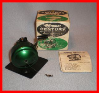 Vintage Johnson Century American Type Spinning Fishing Reel Model No