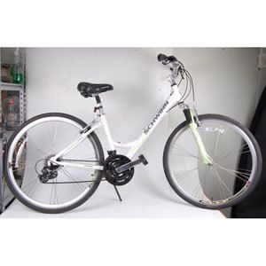 Womens Trailway Hybrid 700C Comfort Bike Bicycle Aluminum Front Susp