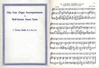 Free Church Organ Accompaniments to Well Known Hymn Tunes by T T Noble