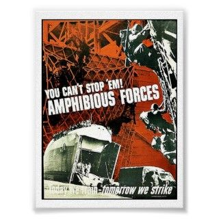 Amphibious Assault Vehicle U.S. Marine Corps Poster