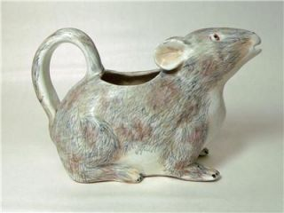 Antique Rat Creamer Cream Milk Pitcher Figural Unusual Old English