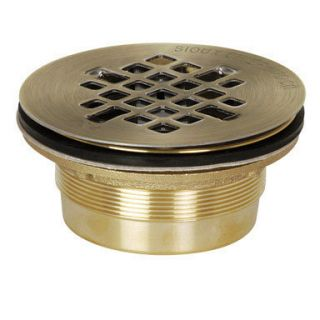 Sioux Chief 827 2B No Caulk Shower Drain 2 Cast Brass w SS Snap in