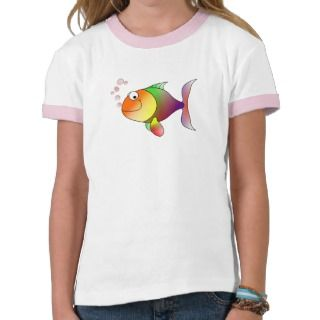 Cute Funny Fish   Colorful T Shirt