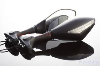 HYOSUNG Black LED Integrated Turn Signals Mirrors Comet GT 250 250R