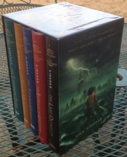 Percy Jackson and The Olympians Hardcover Boxed Set Five Novels Nice