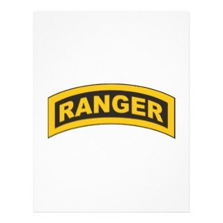 Senior Airborne Wings Ranger/Airborne Tab Personalized Flyer
