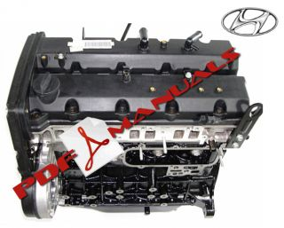 Hyundai Terracan 2 9 Turbo Diesel Engine J3 Workshop Manual HQ Printed