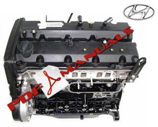 Hyundai Terracan 2 9 Turbo Diesel Engine J3 Workshop Manual HQ Printed