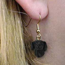 New Flat Coat Retriever Dog Earrings Overstock Sale