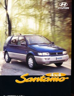 1999 2000 Hyundai Santamo Van Sales Brochure German