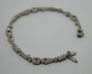White Gold Diamonds Women Bracelet  I Love You  Link Bracelet