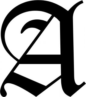 Old English Letter A Initial Decal 9 75 Choose Color