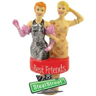 Best Friends Inscription Wine Stopper with I Love Lucy Starlets Design