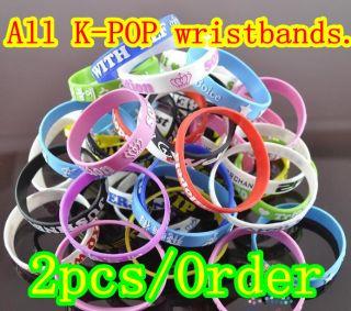 Pop Wristbands Beast MBLAQ Boyfriend SS501 UKISS Teen Top Bracelet