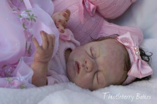 Thistleberry Babies Full Body Solid Silicone Baby Girl Beautifully