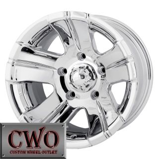 15 Chrome ion 138 Wheels Rims 5x139 7 5 Lug Dodge RAM Dakota Durango