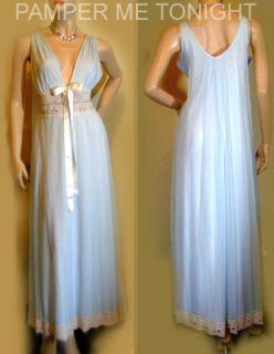 Gorgeous Romantic Blue Lingerie Nightgown Negligee Peignoir Set ~ M