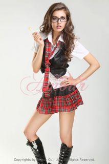 Sexy School Girl Uniform Adult Costume Roleplay AR1102