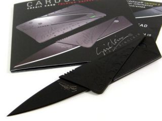 Iain Sinclair Black Cardsharp 2 Folding Credit Card Safety Knife New