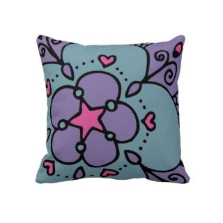 Peacock Princess Diva Rock Star Heart Polka Dots Pillows