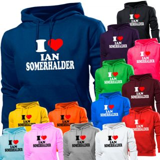 Love Ian Somerhalder Vampire Diaries Hoodie Hoody Women Boys Girls