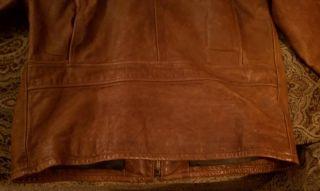 RARE VTG Filson Leather Biker Motorcycle Coat Jacket M 38 4042